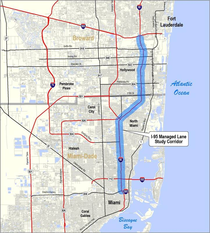 map of dade county florida with I95managedlanes on Marlins Park moreover Press Kit also Coral Castle Homestead FL in addition 90340 further I95managedlanes.