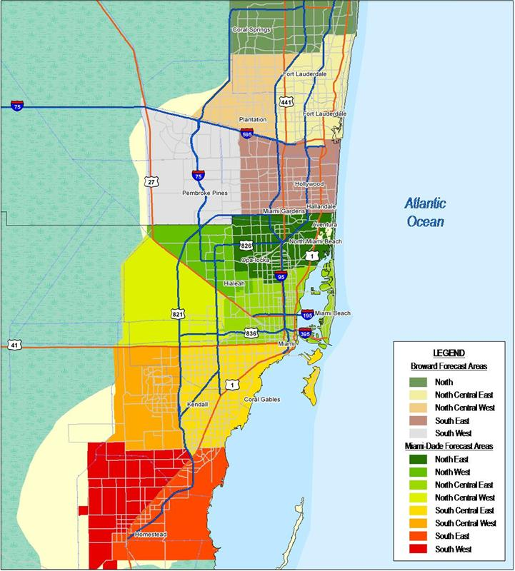 Map Of Miami Dade And Broward County County Needs To Raise