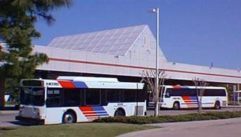 METRO buses at transit station