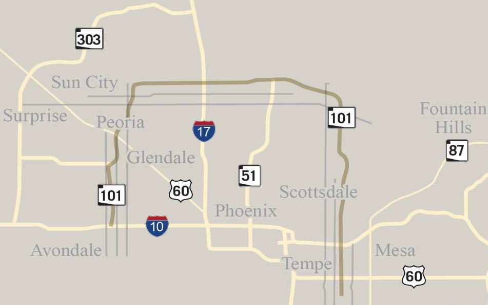 Map Of Loop 303 Arizona.Arizona Department Of Transportation Adot Loop 101 Mobility