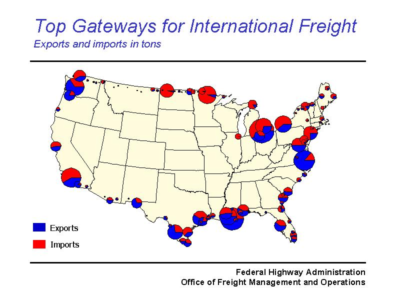 Memphis Freight Planning Conference Lambert Presentation Fhwa - Us-ports-of-entry-map