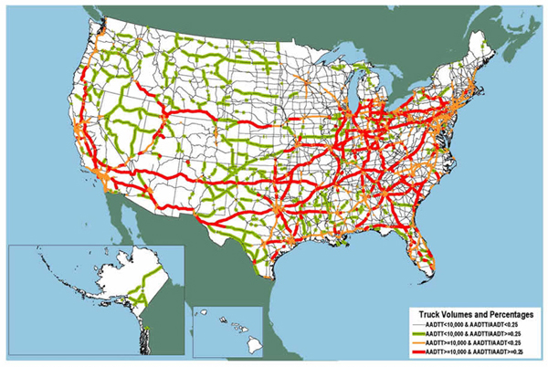 Dafi Us Interstate Highway Map Pdf - Map of i 40 across us