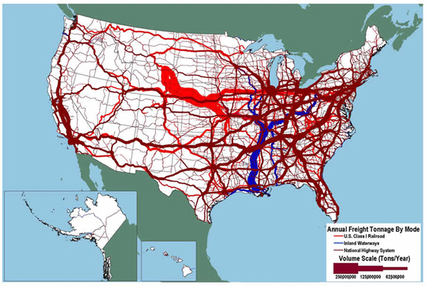 Demands On The Transportation System FHWA Freight Management And - Us waterways map