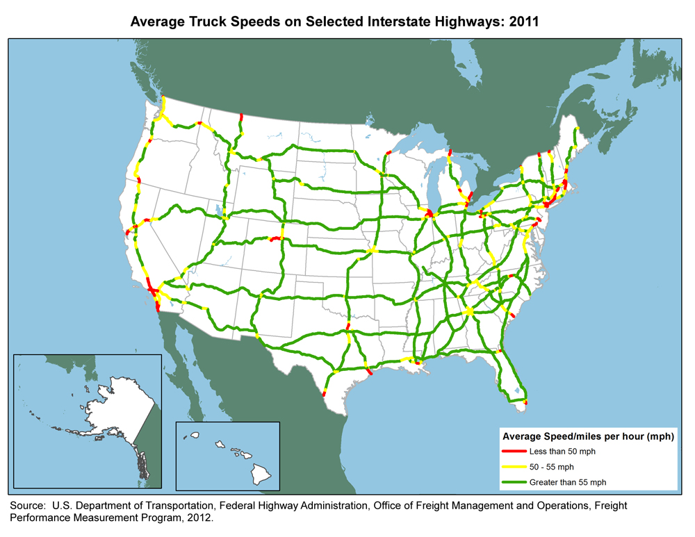 Is There A Us Map That Shows Interstate Highway Traffic Volumes