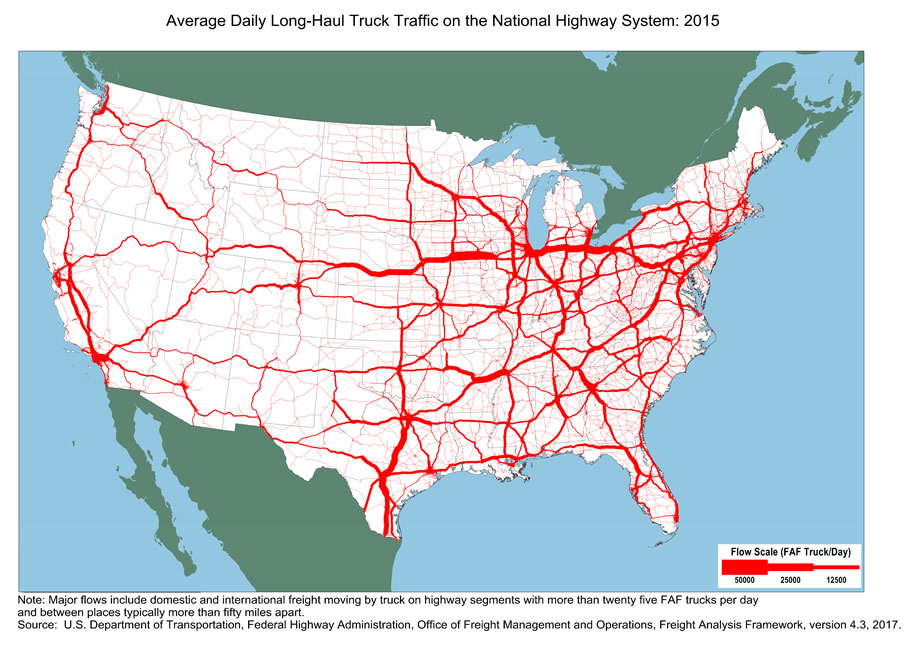 Average Daily Long-Haul Freight Traffic on the National ...