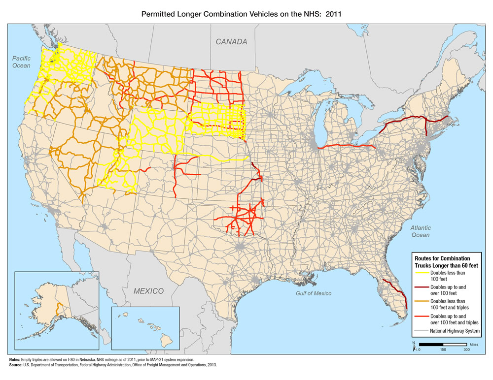Permitted Longer Combination Vehicles On The National