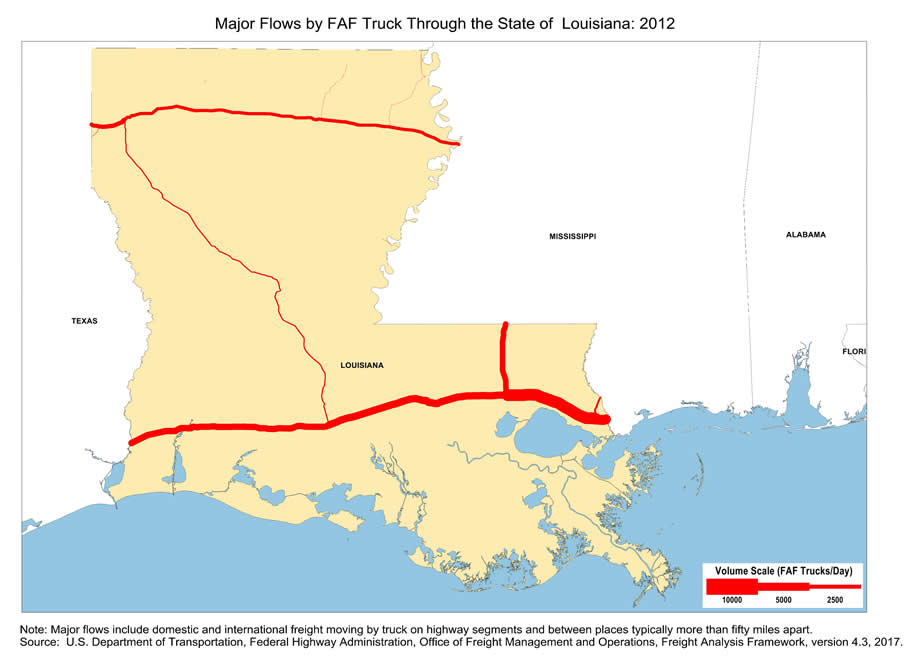 Map of Major Freight Flow by Trucks that Pass-Through the State of ...