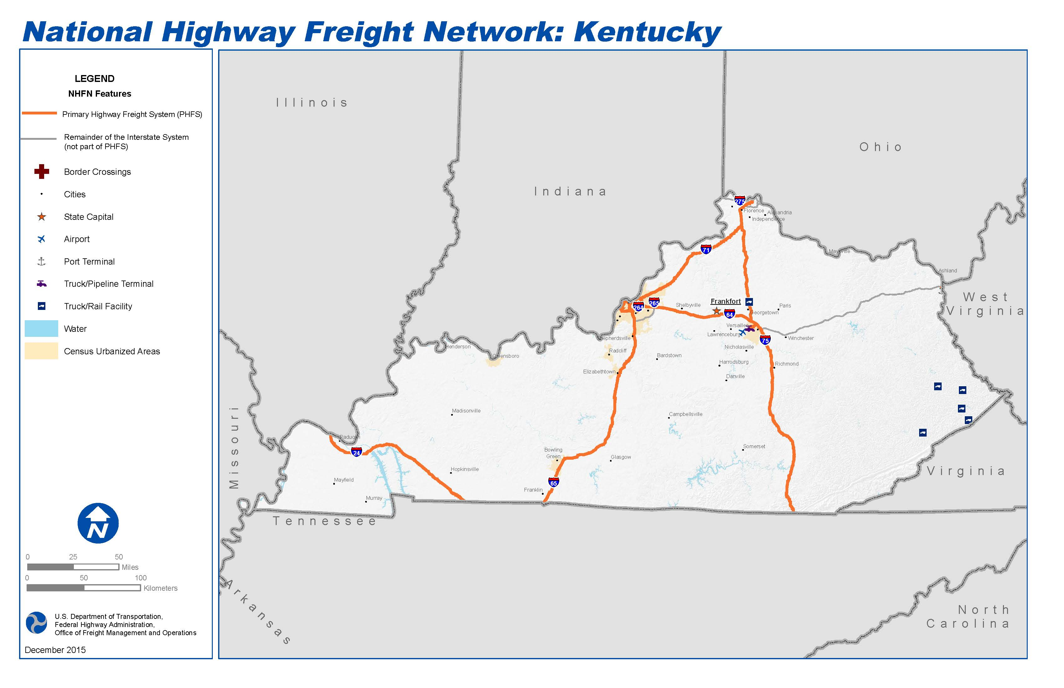 National Highway Freight Network Map and Tables for Kentucky ... on wv map, ae map, indiana map, ne map, sc map, pa map, nm map, ohio map, n. ca map, oh map, tenn map, kentucky map, ri map, new york map, nc map, state map, usa map, mo map, va map, tn map,