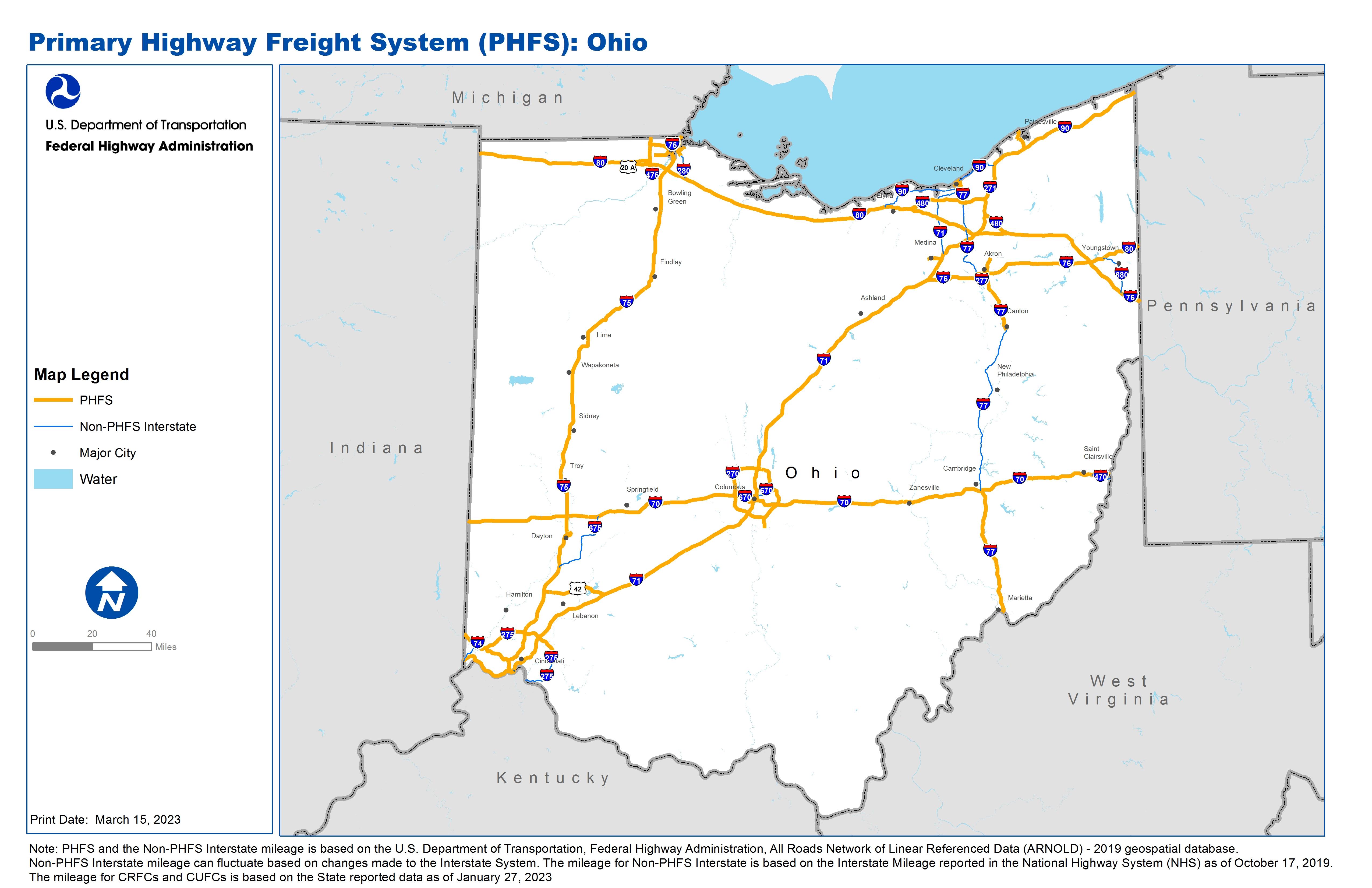 National Highway Freight Network Map and Tables for Ohio ... on map of illinois, oberlin ohio, map of michigan, map of italy, logan ohio, map of georgia, kent ohio, maumee ohio, list cities ohio, map of virginia, grove city ohio, youngstown ohio, middletown ohio, map of north carolina, map of california, map of usa, cities in ohio, map of maine, map of arizona, delaware ohio, kirtland ohio, defiance ohio, map of massachusetts, map of new york, mount vernon ohio, google maps ohio, map of oklahoma, wooster ohio, map of china, medina ohio, marion ohio, map of alaska, map of new jersey, map of texas, map of delaware, map of mexico, counties in ohio, solon ohio, wapakoneta ohio,