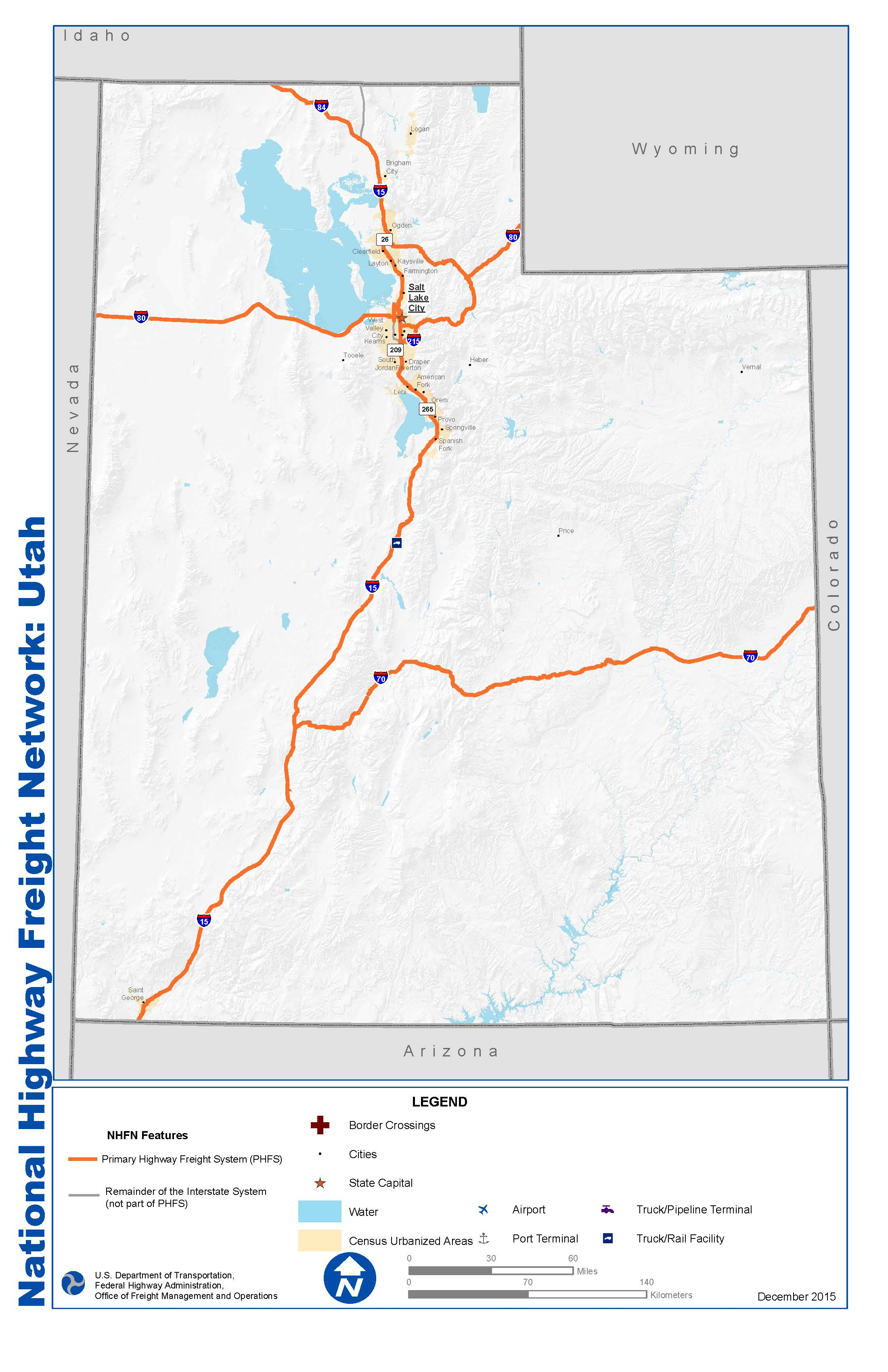 National Highway Freight Network Map and Tables for Utah ... on lake havasu arizona, polacca arizona, vail arizona, wickenburg arizona, parker arizona, florence arizona, kingman arizona, alpine arizona, williams arizona, tempe arizona, avondale arizona, peoria arizona, tuscon arizona, pinetop arizona, road map arizona, prescott arizona, antelope canyon arizona, surprise arizona, glendale arizona, maricopa arizona,
