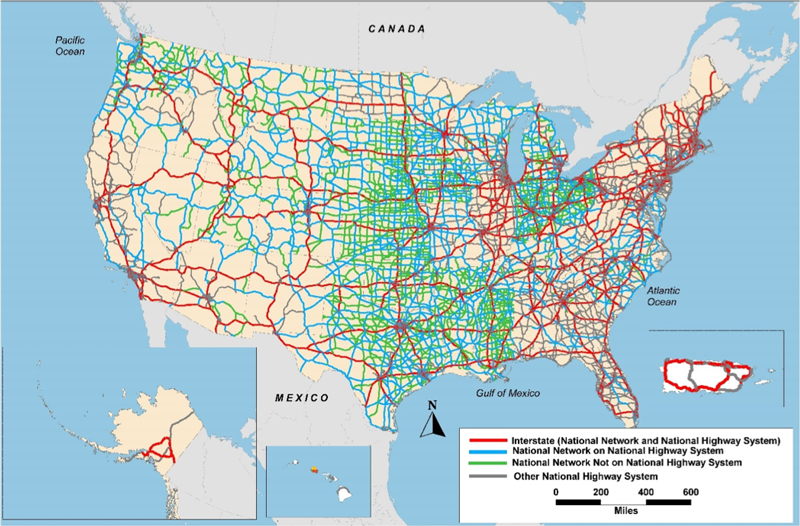 Status of the Nation's Highways, Bridges, and Transit Conditions and on the 50 states map, hawaii states map, untied states map,