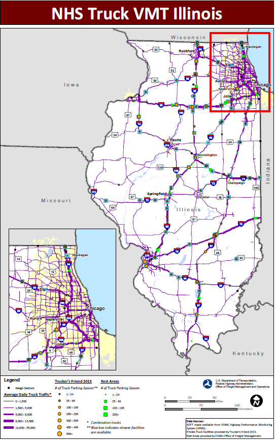 Chicago Truck Routes Map Jason's Law Truck Parking Survey Results and Comparative Analysis
