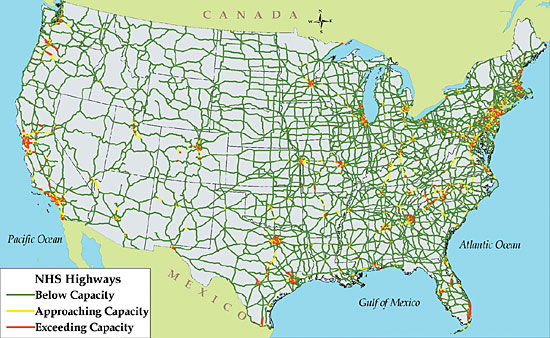 The Freight Story Key Freight Transportation Challenges FHWA - Us traffic map