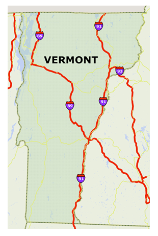 Maine and vermont interstate highway heavy truck pilot for Vermont motor vehicle laws