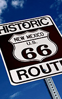 "An image of a sign: ""Historic New Mexico U.S. 66 Route"""