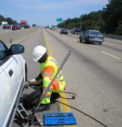 emergency roadside service freeway tire change