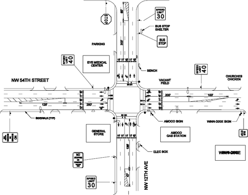 traffic intersection diagrams