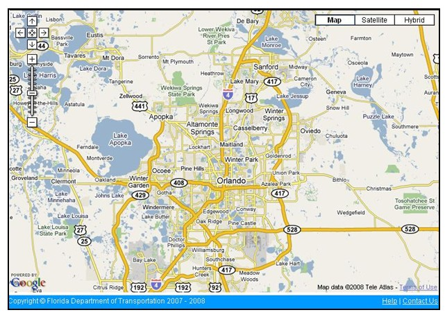 Orlando Metro Map.Fhwa Office Of Operations Iflorida Model Deployment Final