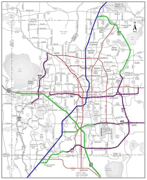 Orlando Traffic Map FHWA Office of Operations   iFlorida Model Deployment Final