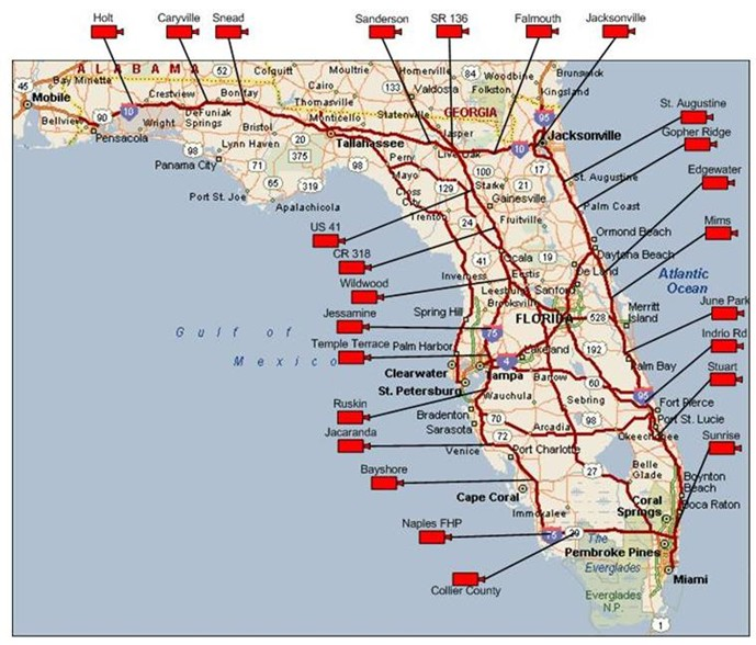 Speed Limit Map Florida FHWA Office of Operations   iFlorida Model Deployment Final