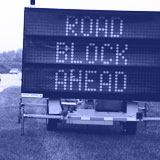 Photo of a Variable Message Sign