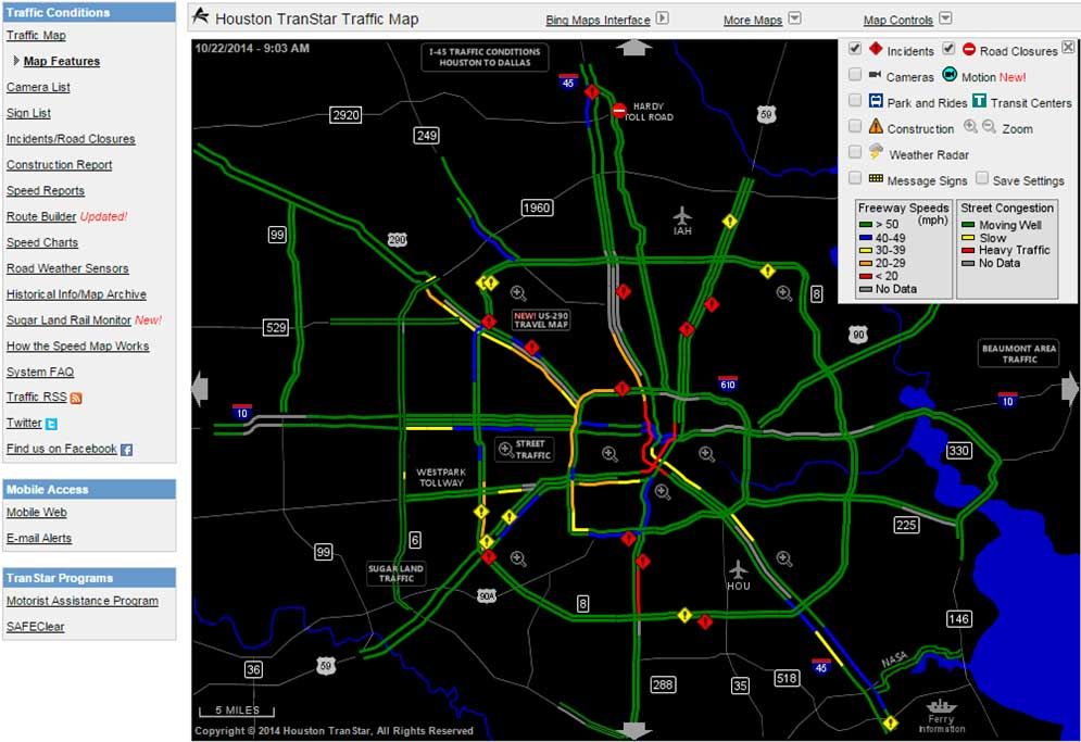 txdot traffic map houston Freight Performance Measure Approaches For Bottlenecks Arterials