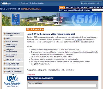 Transportation Management Center Video Recording and
