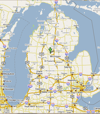 michigan highway construction map michigan map
