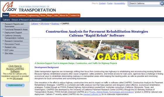 Construction Analysis for Pavement Rehabilitation Strategies