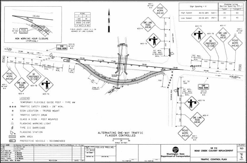 work zone impacts assessment  washington state dot sr 112