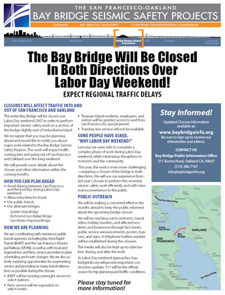 San FranciscoOakland Bay Bridge East Span Seismic Safety Project