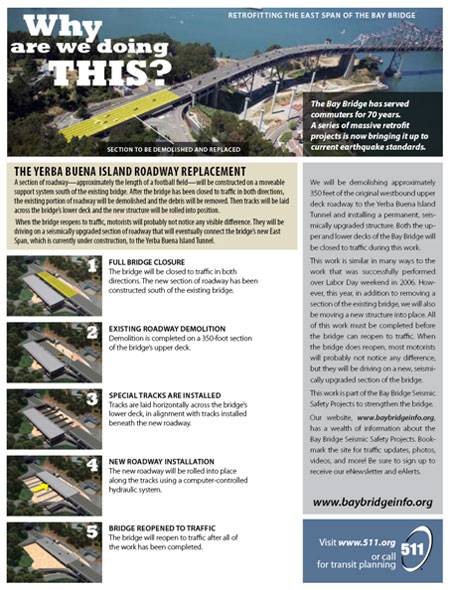 San FranciscoOakland Bay Bridge East Span Seismic Safety Project – Sample Fact Sheet